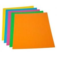 Portada Encuadernación Gofrada 1000 gr Din-A4 Pack 50 color Naranja Fluor