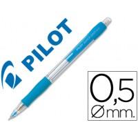 Portaminas pilot super grip celeste 0,5 mm sujecion de caucho