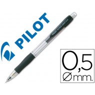 Portaminas pilot super grip negro 0,5 mm sujecion de caucho
