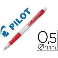 Portaminas pilot super grip rojo 0,5 mm sujecion de caucho