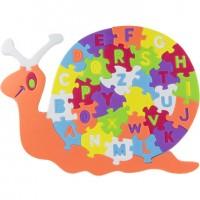 Puzzle goma eva Abecedario Caracol