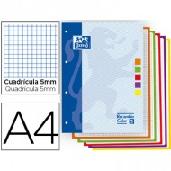 Recambio oxford 5 colores a4 80h cuadros 5mm