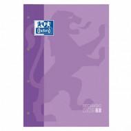Recambio color oxford din a4 80 hojas 90 grs cuadros 5 mm 4 taladros violeta