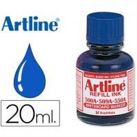 Tinta artline azul para rotulador pizarra blanca 500-a frasco de 20 ml.