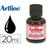 Tinta artline negro para rotulador pizarra blanca 500-a frasco de 20 ml.