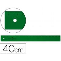 Regla faber 40 cm plastico verde