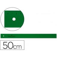 Regla faber 50 cm plastico verde