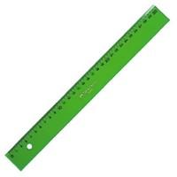 Regla faber 30 cm plastico verde