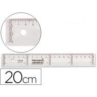 Regla liderpapel 20 cm plastico cristal