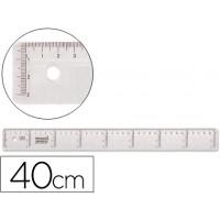 Regla liderpapel 40 cm plastico cristal