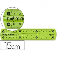Regla maped plastico flexible de 15 cm colores surtidos