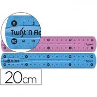 Regla maped plastico flexible de 20 cms colores surtidos