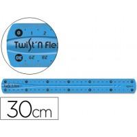 Regla plastico flexible maped de 30 cm colores surtidos
