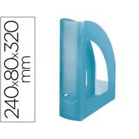 Revistero liderpapel plastico azul translucido