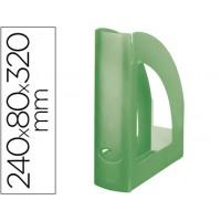Revistero liderpapel plastico verde kiwi translucido
