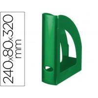 Revistero liderpapel plastico verde opaco
