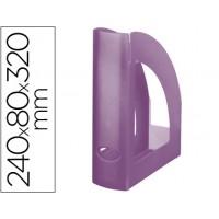 Revistero liderpapel plastico violeta translucido