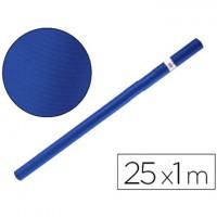 Rollo de papel kraft azul de 25 metros