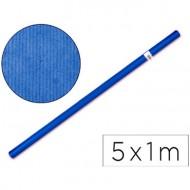Rollo de papel kraft azul de 5 metros