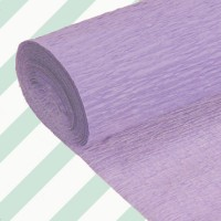 Rollo papel crespón 0,5x2,5 metros Malva