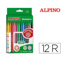 Rotulador alpino -caja de 12 colores