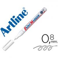 Rotulador artline marcador permanente  blanco -punta redonda 0.8 mm -metal caucho y plastico