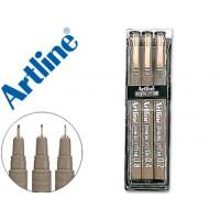 Rotulador artline calibrado micrometrico ek negro bolsa de 3 unidades