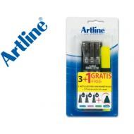 Rotulador artline calibrado micrometrico ek negro bolsa de3 + fluorescente 660 blister