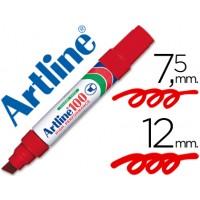 Rotulador artline marcador permanente 100 rojo -punta biselada