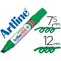 Rotulador artline marcador permanente 100 verde -punta biselada