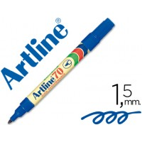 Rotulador artline marcador permanente ek-70 azul -punta redonda 1.5 mm -papel metal y cristal