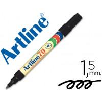 Rotulador artline marcador permanente ek-70 negro -punta redonda 1.5 mm -papel metal y cristal