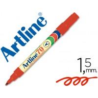 Rotulador artline marcador permanente ek-70 rojo -punta redonda 1.5 mm -papel metal y cristal