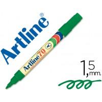 Rotulador artline marcador permanente ek-70 verde -punta redonda 1.5 mm -papel metal y cristal