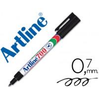 Rotulador artline marcador permanente ek-700 negro -punta redonda 0.7 mm -papel metal y cristal