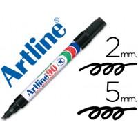 Rotulador artline marcador permanente ek-90 negro -punta biselada 5 mm -papel metal y cristal
