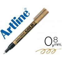 Rotulador artline marcador permanente tinta metalica ek-999 oro -punta redonda 0.8 mm