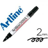 Rotulador artline pizarra ek-500 negro punta redonda 2 mm recargable.