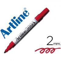Rotulador artline pizarra ek-500 rojo punta redonda 2 mm recargable.