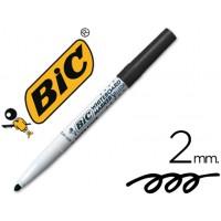 Rotulador bic velleda para pizarra negro -punta redonda 2 mm