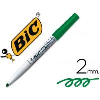 Rotulador bic velleda verde para pizarra blanca -punta redonda 2 mm