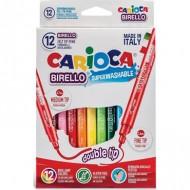 Rotulador carioca birello 12 colores doble punta