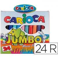 Rotulador Carioca Jumbo 24 colores punta gruesa