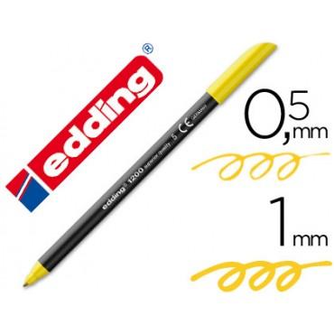 Rotulador edding punta fibra 1200 amarillo n.5 -punta redonda 0.5 mm