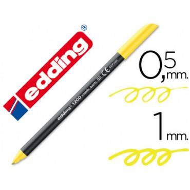 Rotulador edding punta fibra 1200 amarillo neon n.65 punta de fibra 0,5 mm