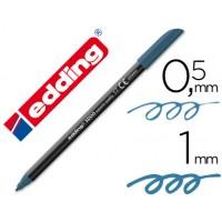 Rotulador edding punta fibra 1200 azul acero n.17 -punta redonda 0.5 mm