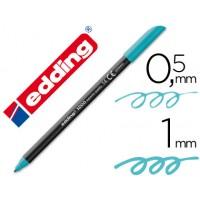 Rotulador edding punta fibra 1200 azul turquesa n.14 -punta redonda 0.5 mm