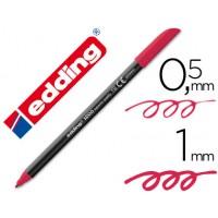Rotulador edding punta fibra 1200 carmin n. 19 -punta redonda 0.5 mm