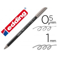 Rotulador edding punta fibra 1200 gris n.12 -punta redonda 0.5 mm