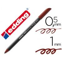 Rotulador edding punta fibra 1200 marron oscuro n. 18 -punta redonda 0.5 mm